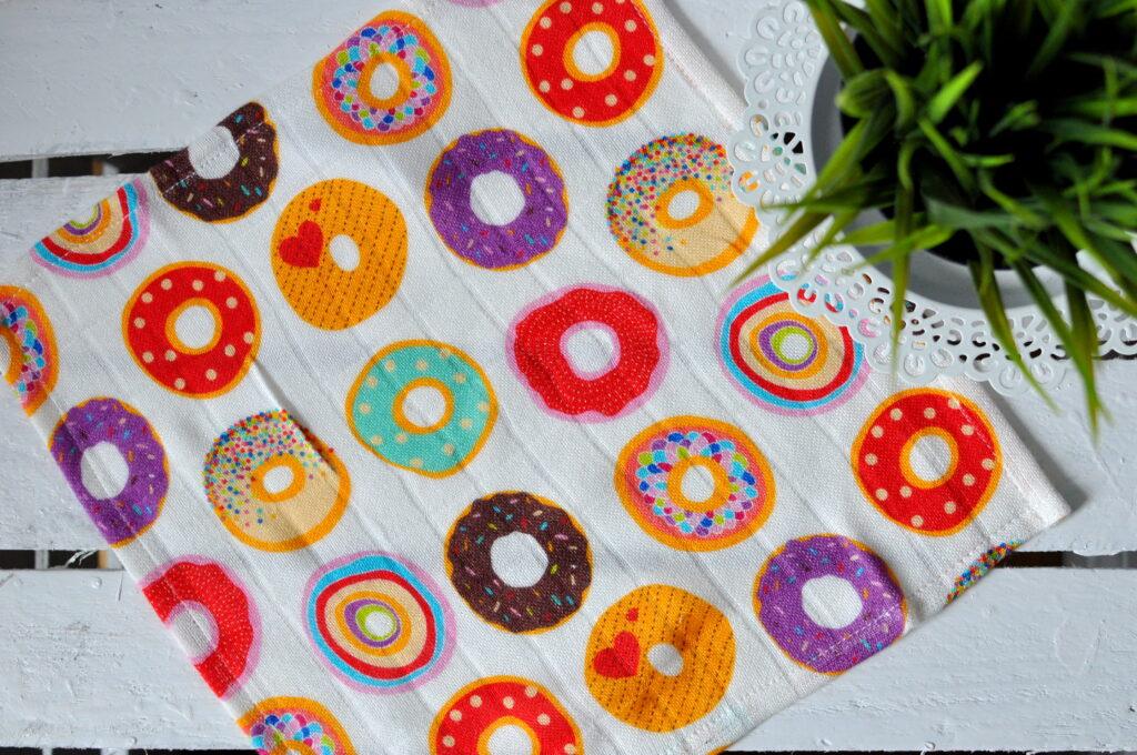 Bambusowa pieluszka donuts 30x30