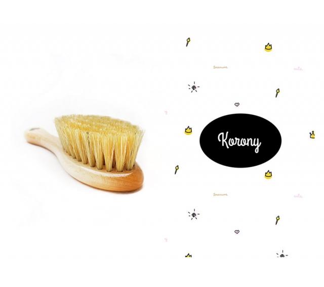 Szczotka z naturalnego włosia + myjka Korony