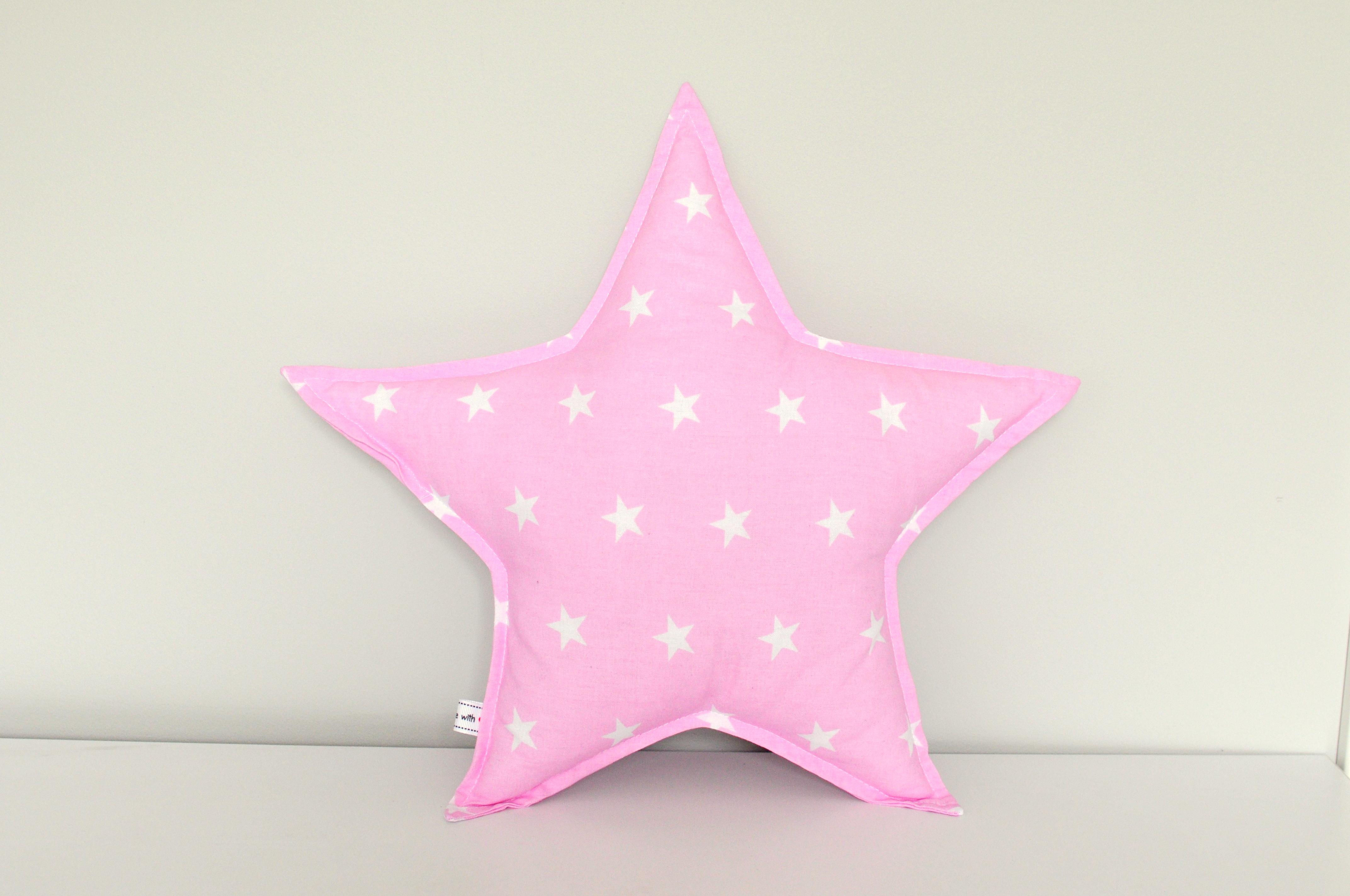 Poduszka Gwiazdka różowa w gwiazdki