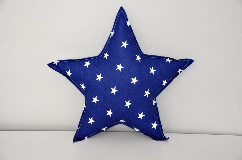 Poduszka Gwiazdka granatowa w białe gwiazdki