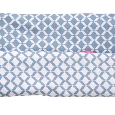 Otulacz flanelowy 80x120 Classic Niebieski 2szt