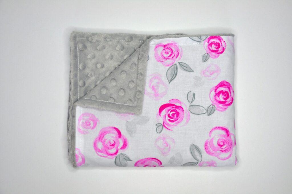 Kocyk Róże pastelowe 50x75