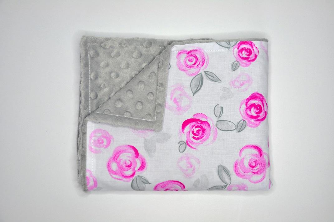 Kocyk Róże pastelowe 50×75
