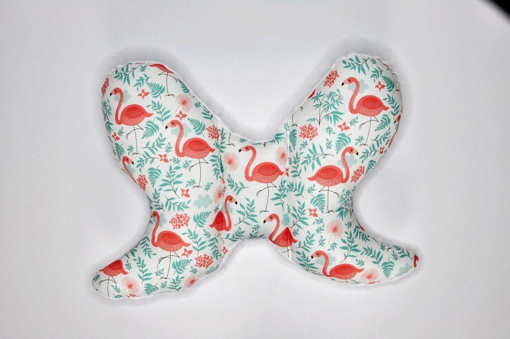 Poduszka do wózka/fotelika Flamingi pod palmami