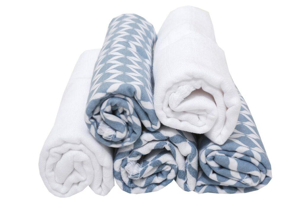 Pieluszki bawełniane Classic niebieski 5szt