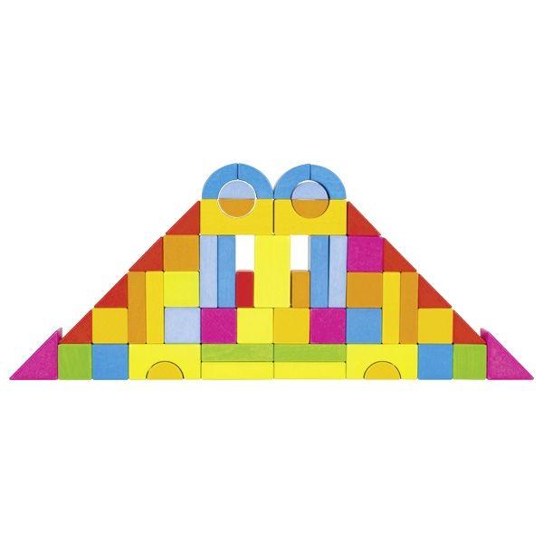 Drewniane klocki Goki Rainbow