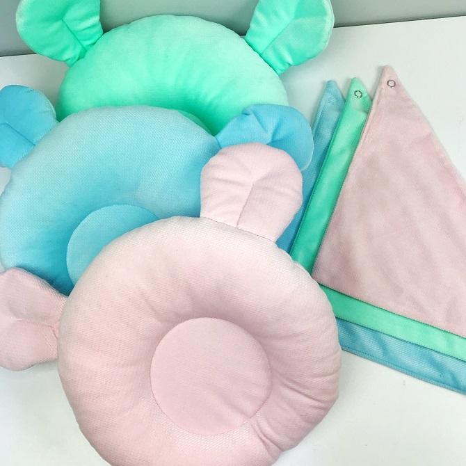 Poduszka potyliczna dla noworodka Miś - 9 wzorów