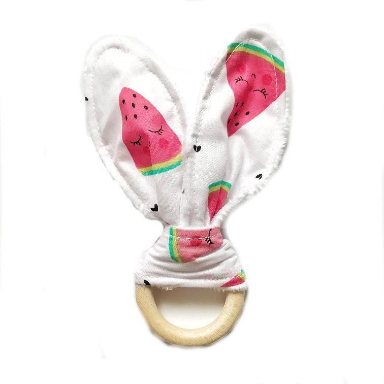 Szeleszczące uszy-gryzak Arbuzy
