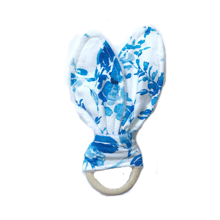 Szeleszczące uszy-gryzak Pastelowe kwiaty