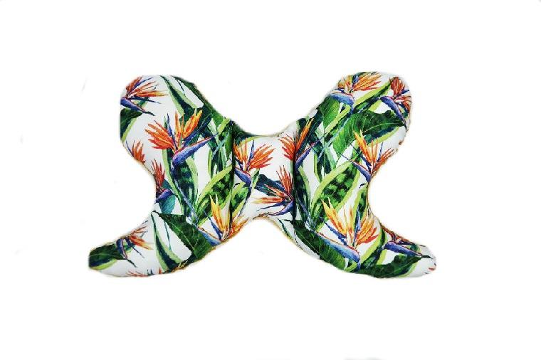 Poduszka do wózka/fotelika Egzotyczne kwiaty