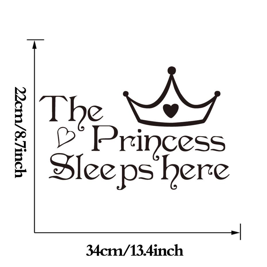 Naklejka ścienna The Princess Sleeps Here