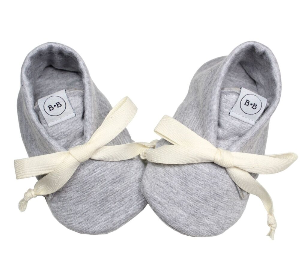 Buciki Newborn Cool Grey