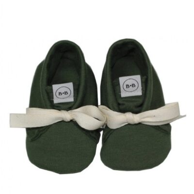 Buciki Newborn Vintage Green