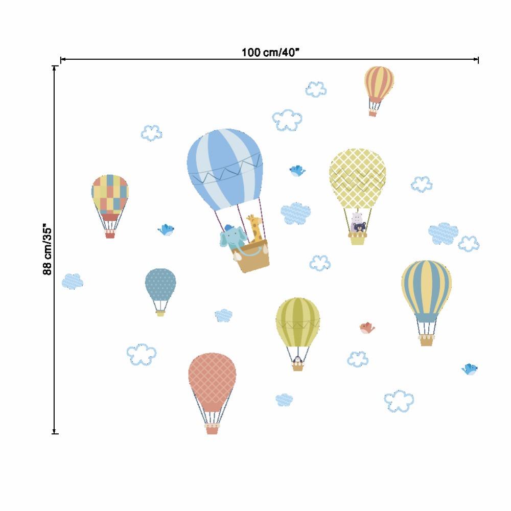 Naklejka ścienna Balony pastelowe