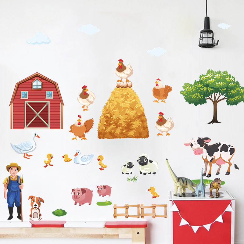 Naklejka ścienna Farma