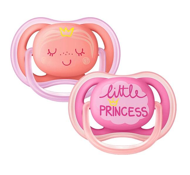 Smoczek AVENT Little Princess Ultra Air 6-18m 2szt