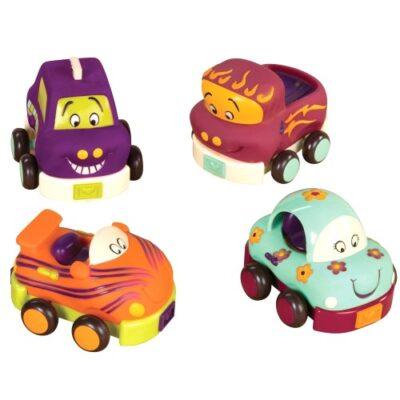 Miękkie autka B.Toys 4szt