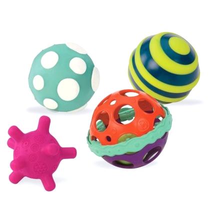 Zwariowane piłeczki sensoryczne B.Toys 4szt