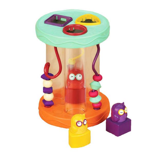 Dźwiękowy sorter kształtów z sówkami B.Toys
