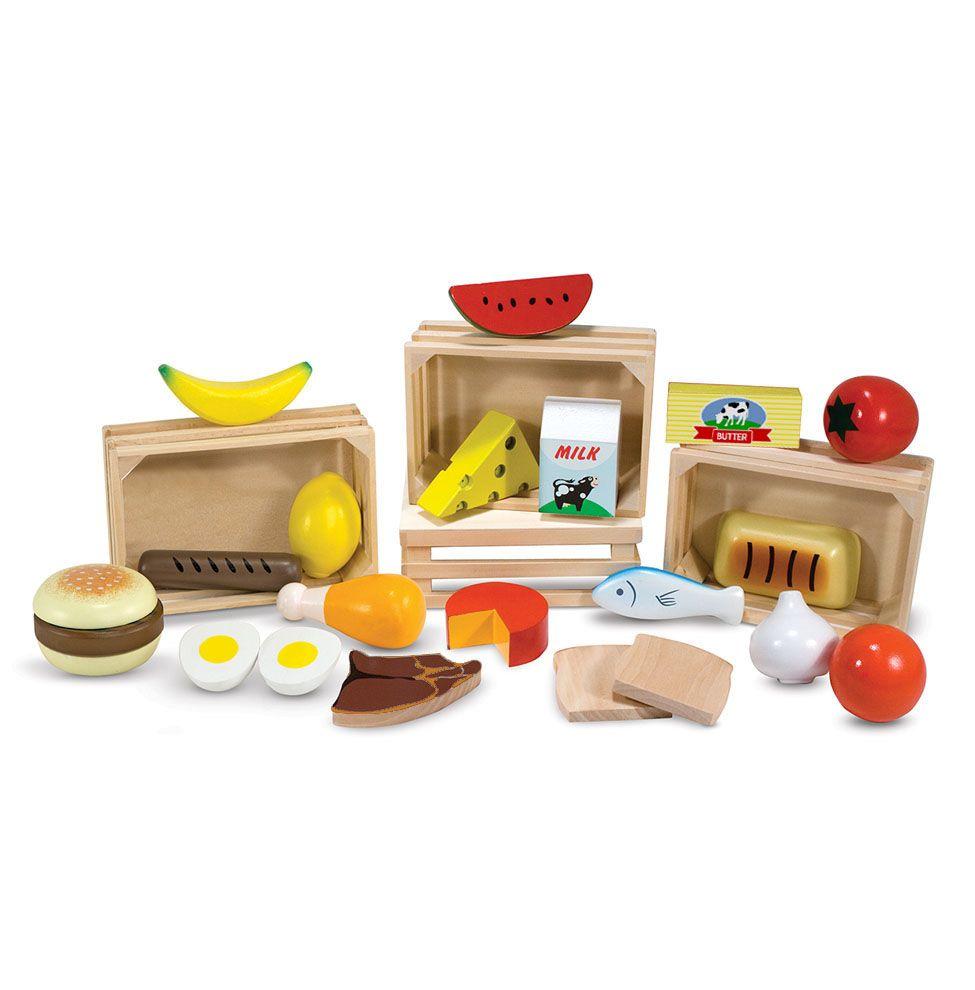 Drewniane jedzenie – 4 skrzynki Melissa&Doug