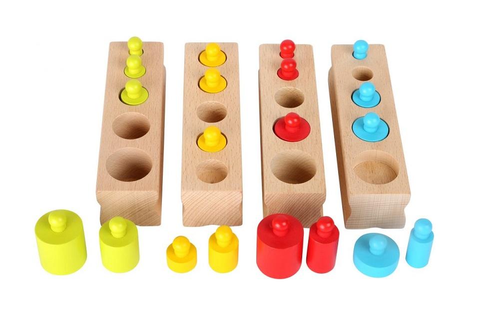 Drewniana układanka Montessori Odważniki