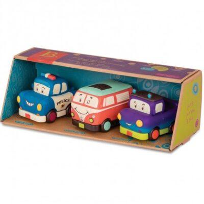 Miękkie autka Mini z pickupem B.Toys 3szt