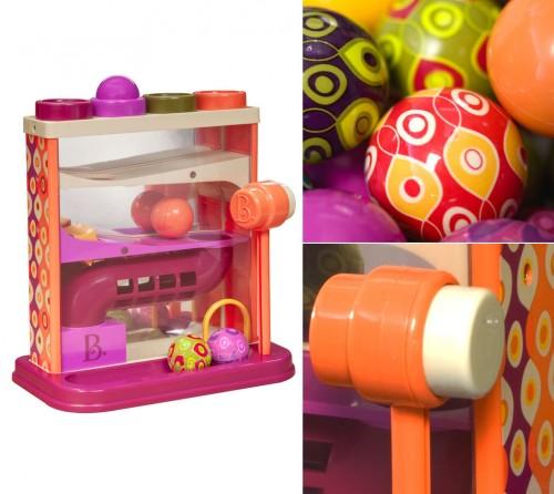 Przebijanka kulodrom ze zjeżdżalnią dla kulek B.Toys