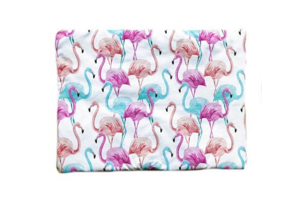 Poduszka bawełniana Flamingi