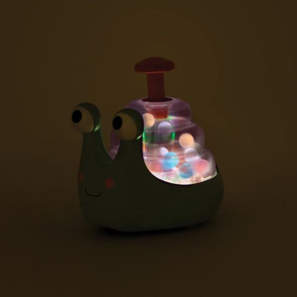 Świecący ślimak ze skaczącymi kuleczkami B.Toys