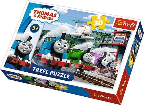 Puzzle 30el Tomek i przyjaciele - Wyścig na torach