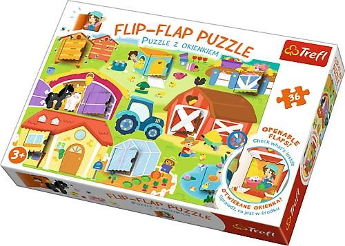 Puzzle 36el z okienkami Na farmie