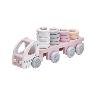 Ciężarówka z klockami Różowa   Kids Concept