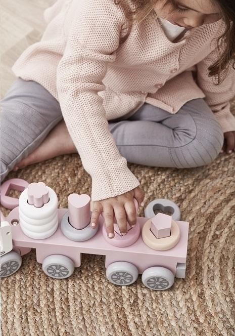Ciężarówka z klockami Różowa | Kids Concept