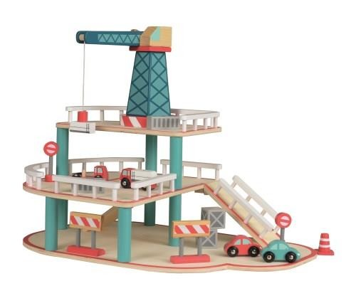 Drewniany garaż z samochodami Egmont Toys