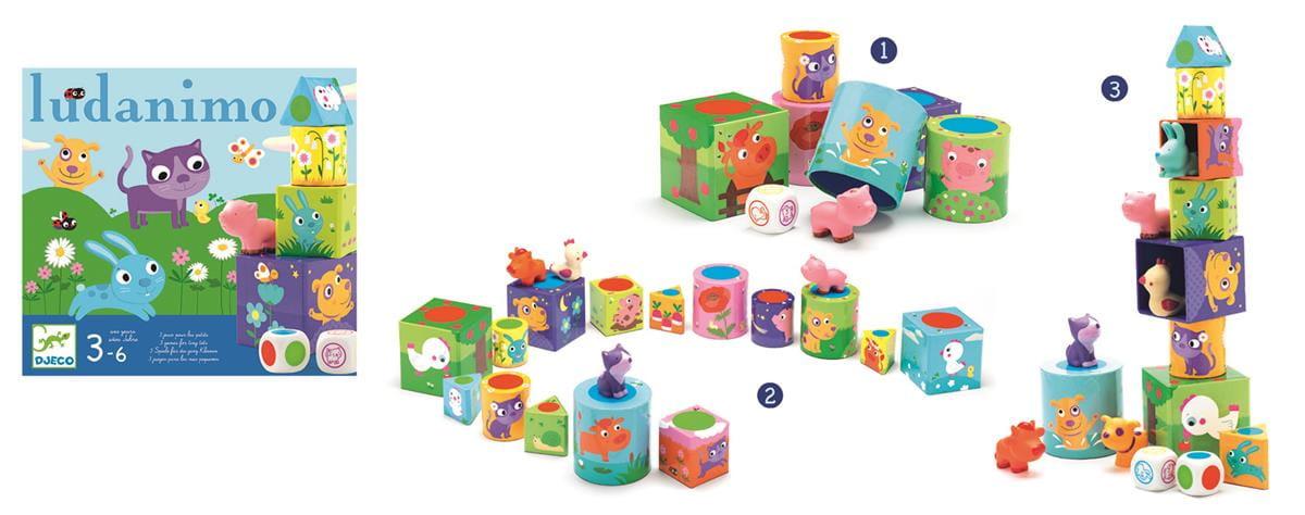 Zestaw 3 gier dla dzieci Ludanimo| Djeco