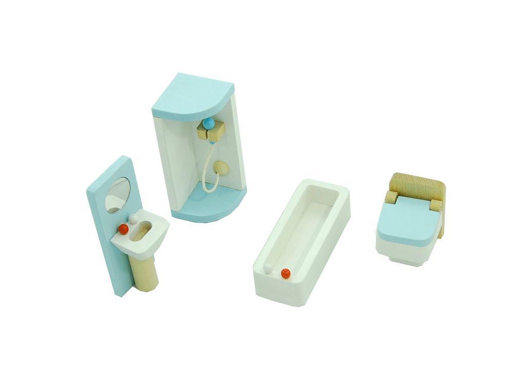 Mebelki do łazienki błękitne