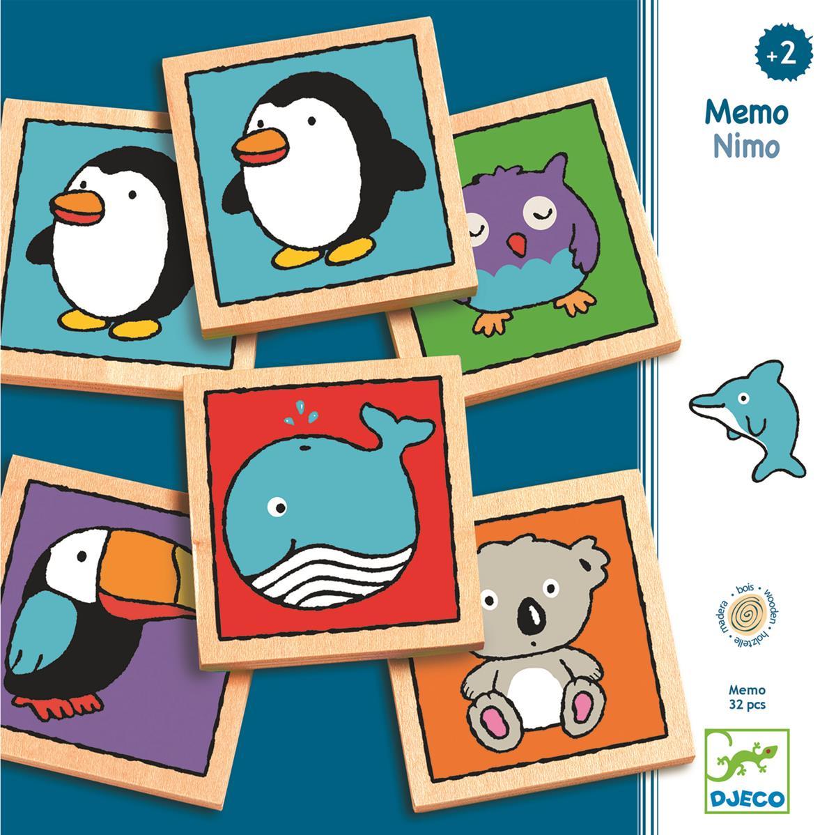 Memo drewniane NIMO | Djeco