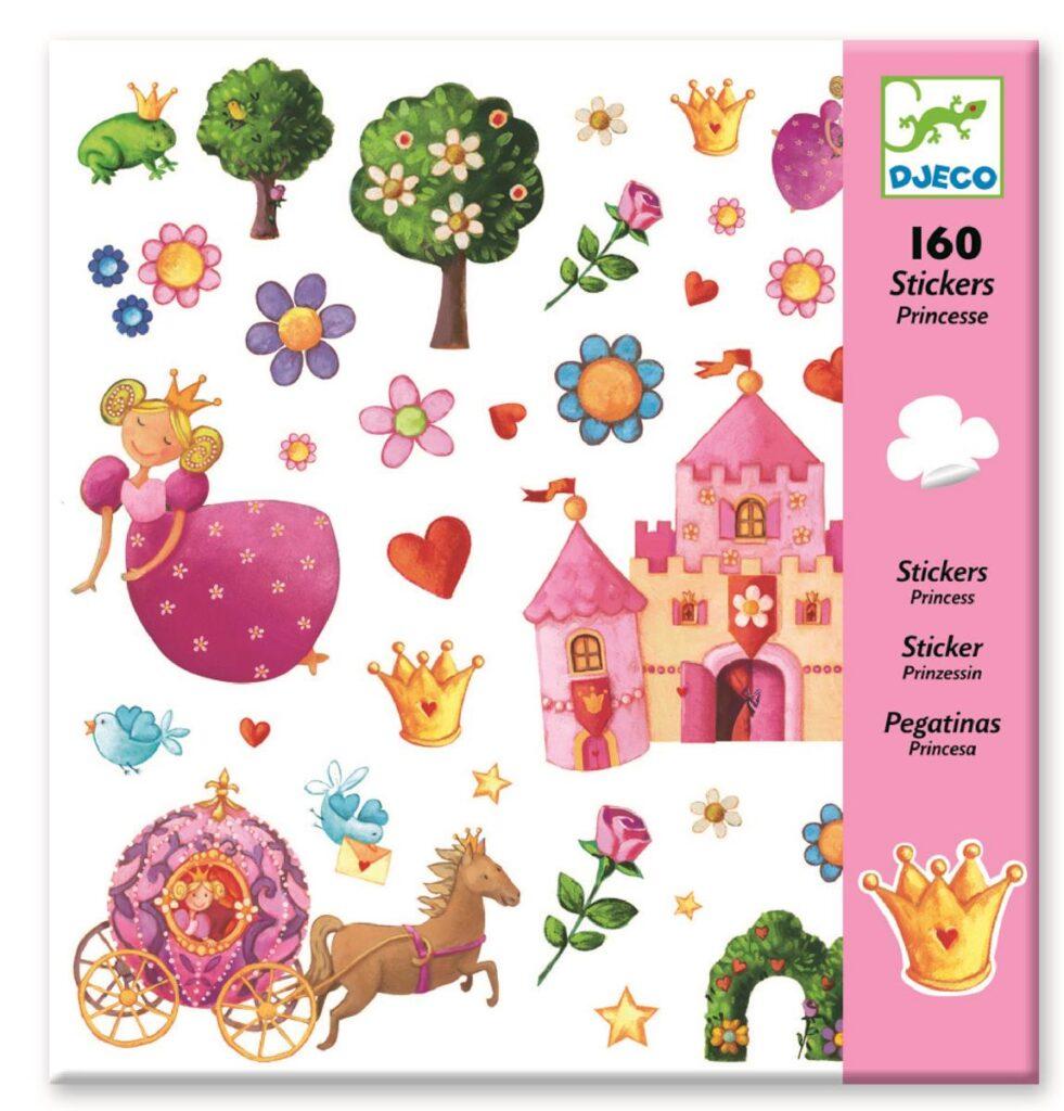 Zestaw naklejek Księżniczka 160szt | Djeco