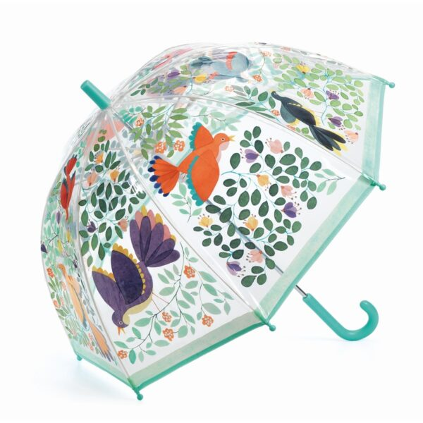 parasol ptaki i kwiaty