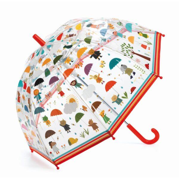parasol w deszczu
