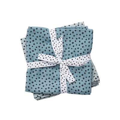 Bawełniane pieluszki 70x70 Dots Blue 2szt | Done by Deer