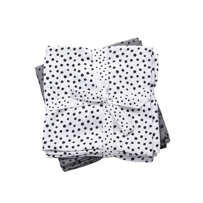 Bawełniane pieluszki 70x70 Dots Grey 2szt | Done by Deer