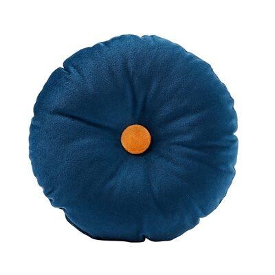 Poduszka okrągła velvet blue