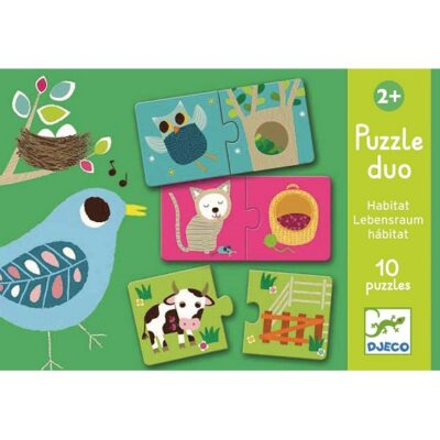 Puzzle 2el Zwierzątka  Djeco