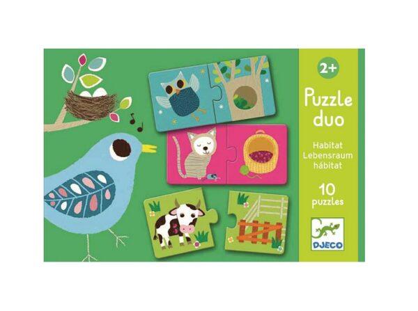 Puzzle 2el Zwierzątka |Djeco