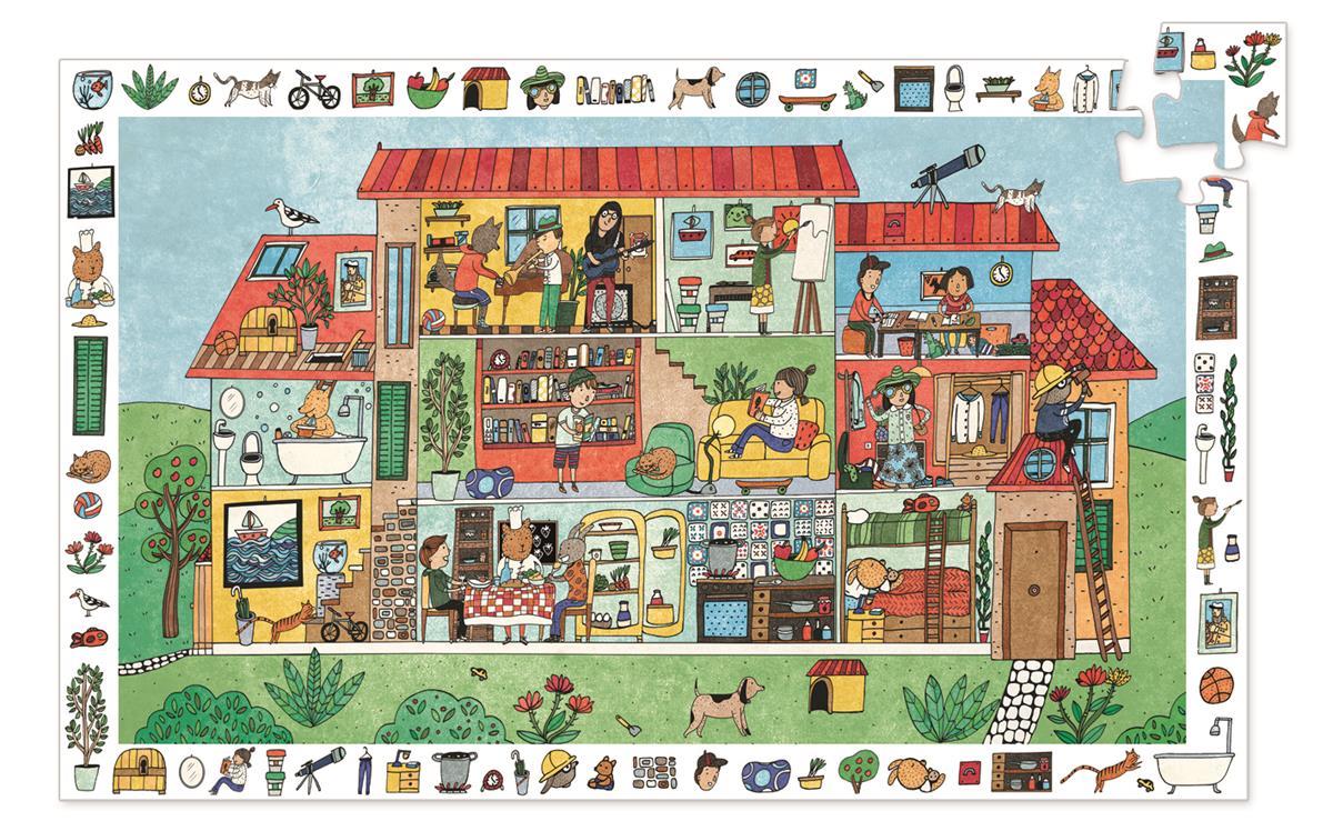 Puzzle obserwacyjne 35el Dom | Djeco