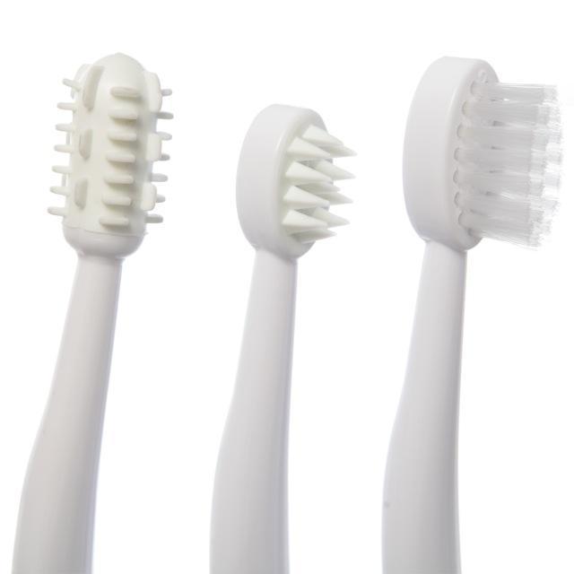 Szczoteczki do zębów – różowe 3 szt. | DreamBaby