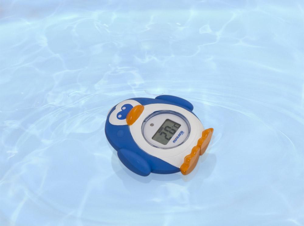 Zestaw 3 termometrów cyfrowych Niebieskich – termometr flexi, do kąpieli, smoczek