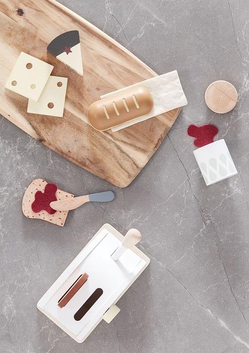 Drewniany toster z akcesoriami | Kids Concept