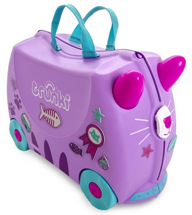 Jeżdżąca walizeczka Kotek Cassie + naklejki | Trunki